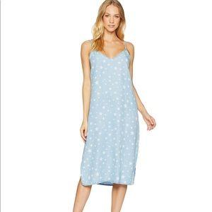 Splendid Star Denim Jean Slip Dress Medium